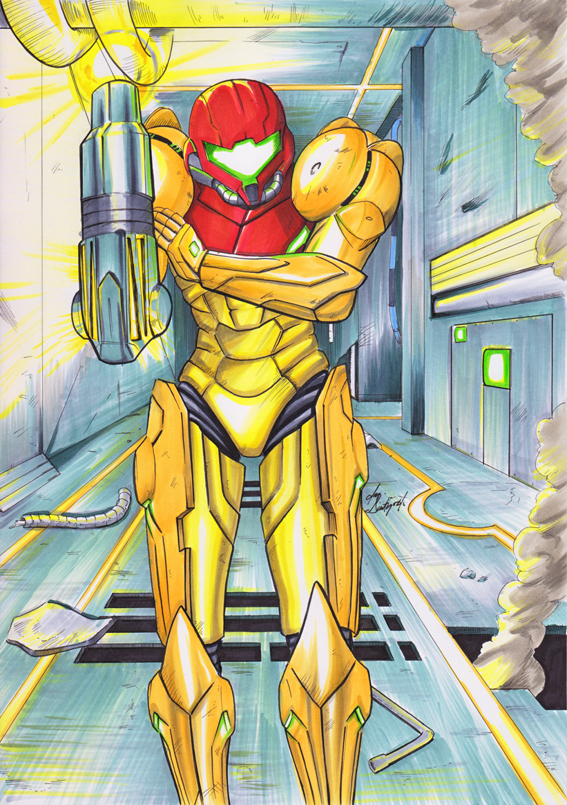 Metroid Commission Colored by JorgeSantiagoJr