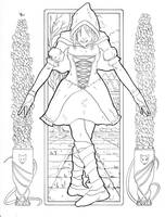 Lady Grimm Illustration Inks by JorgeSantiagoJr