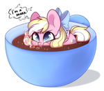 [Ych result] pony in a tea cup by Cloud-Fly