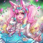 Unicorns and cotton candy