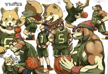 A basketball team document. by inubiko