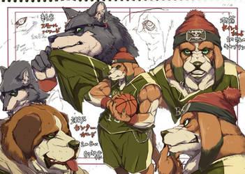 Dog basketball by inubiko