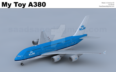 KLM A380 Cinema 4D Toy Plane