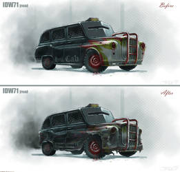 hell cab before and after by RepeatingArms