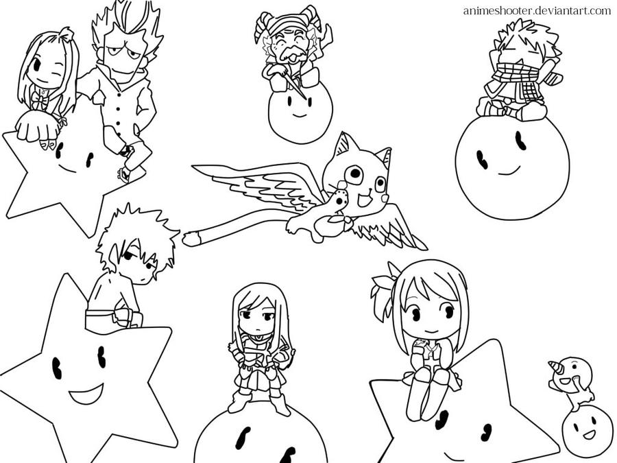Fairy tail lineart by animeshooter on deviantart - Fairy tail coloriage ...