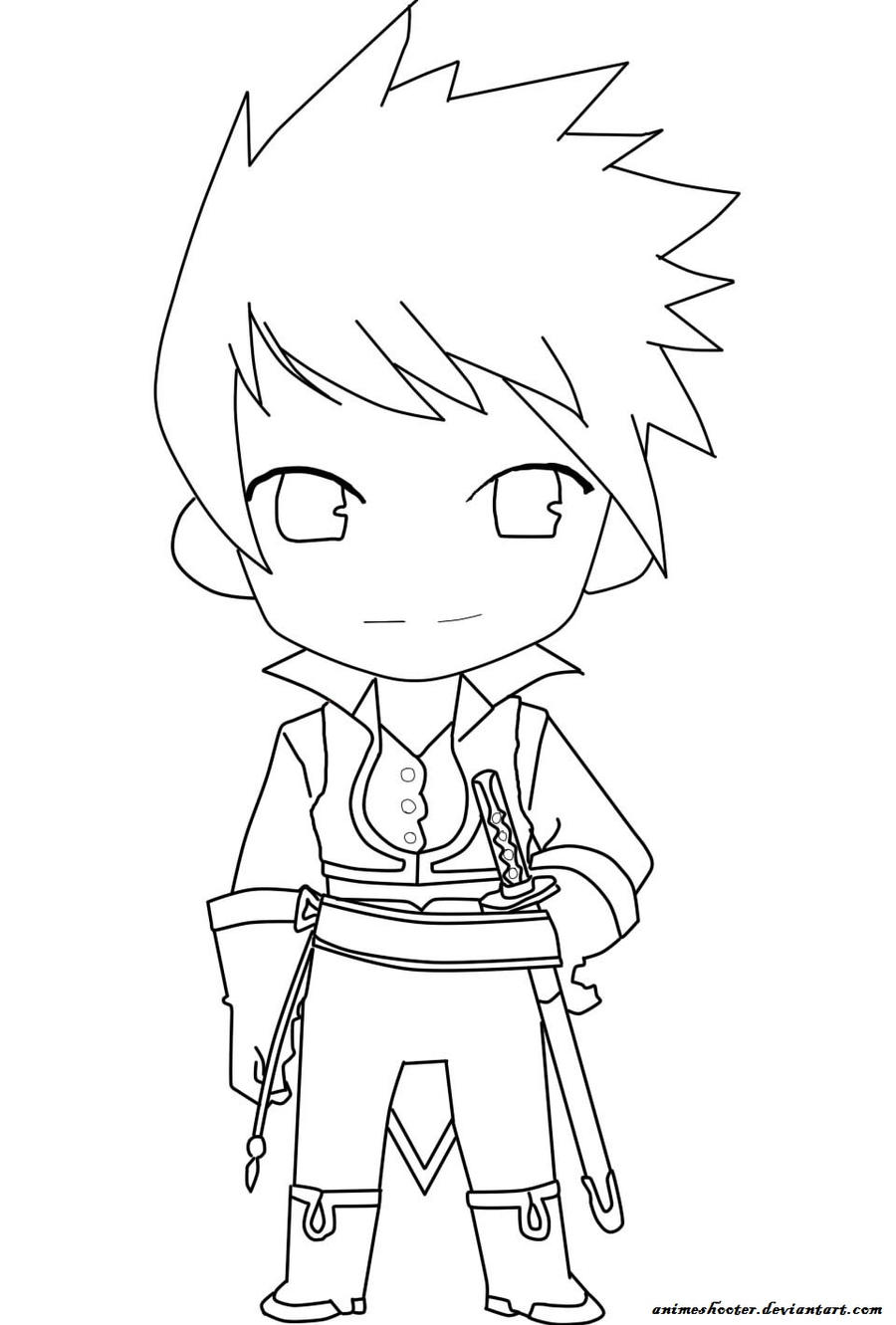 Lineart Anime Boy : Guy lineart by animeshooter on deviantart