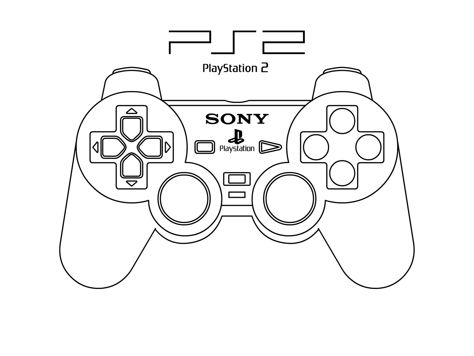 Xbox 360 Printable Coloring Pages : Ps controller coloring pages