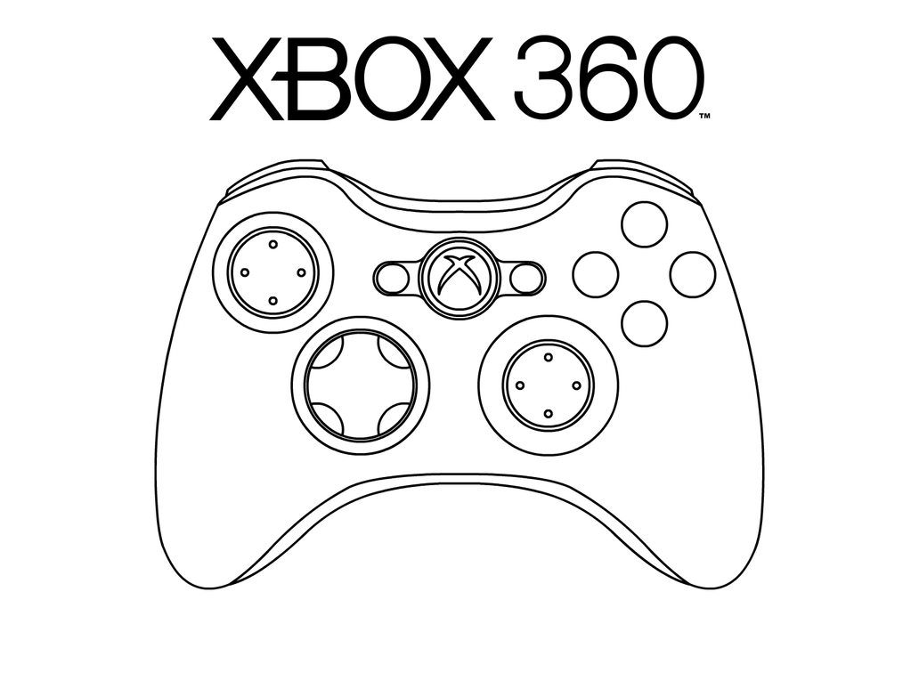 Coloring page xbox - Xbox 360 Pad By Oloff3