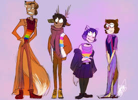 Autumn Boyfriends: Pride Outfits (FEAT NEW DUDES) by CraftyPoptropican
