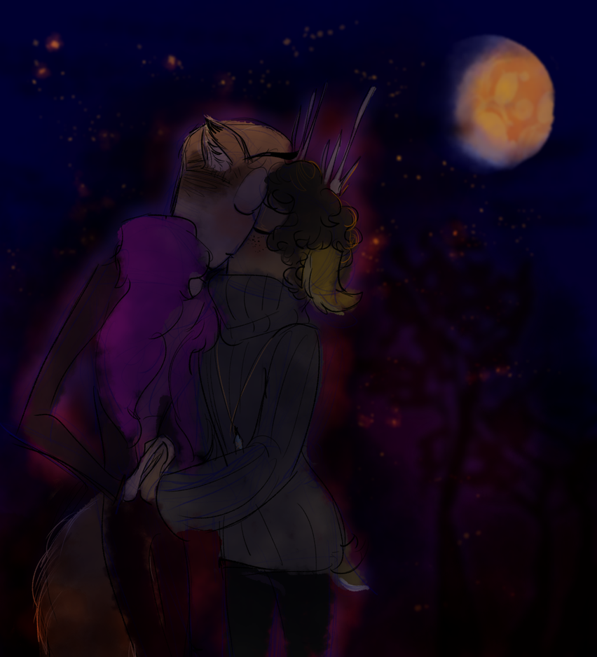Autumn Boyfriends: Late Night Kiss by CraftyPoptropican
