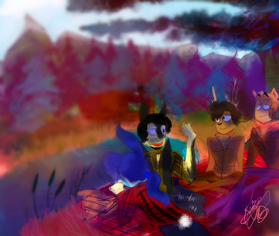 Autumn Boyfriends: Picnic FEAT. ALICE AND ZEPHYR by CraftyPoptropican