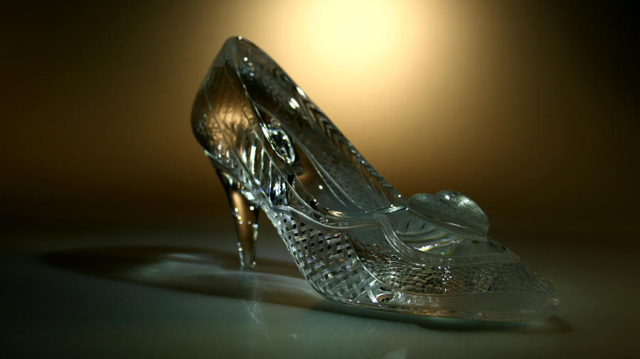 Cinderella's glass slipper by Viczan