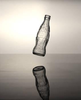 Coca Cola bottle (forest, levitation effect)