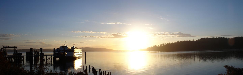 Sunrise Ferry by zxcxvxc