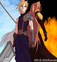Cloud and Sephiroth - Final Fantasy