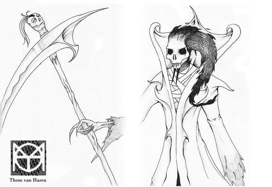 grim reaper lineart by thomahawk1234