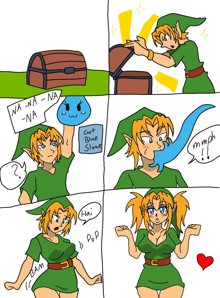 Link gets slimed (colored) by Kobi-Tfs