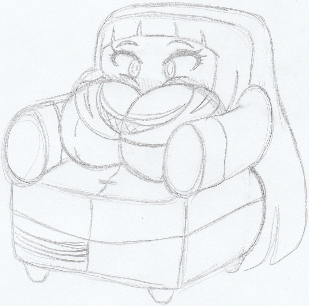 Sketch Of The Day Comfy Chair Hinata By Kobi Tfs