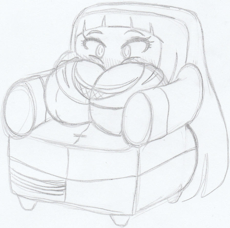 Sketch of the day Comfy Chair Hinata by Kobi Tfs on DeviantArt