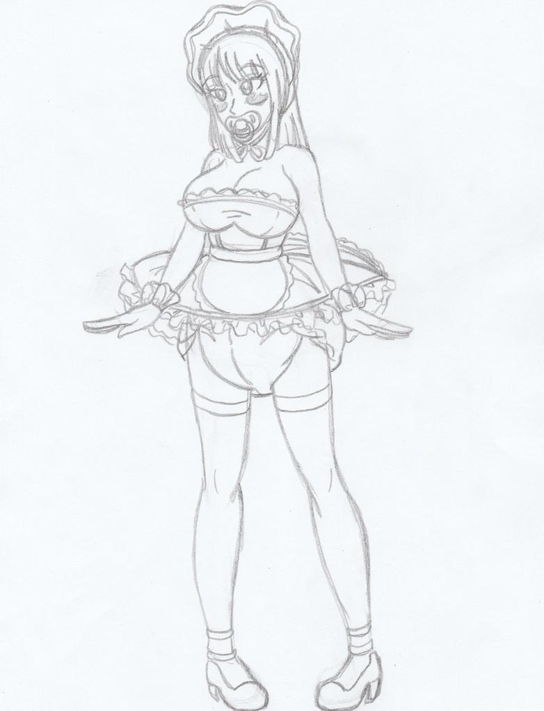 Sketch of the day ( Padded Maid Nico Robin) by Kobi94