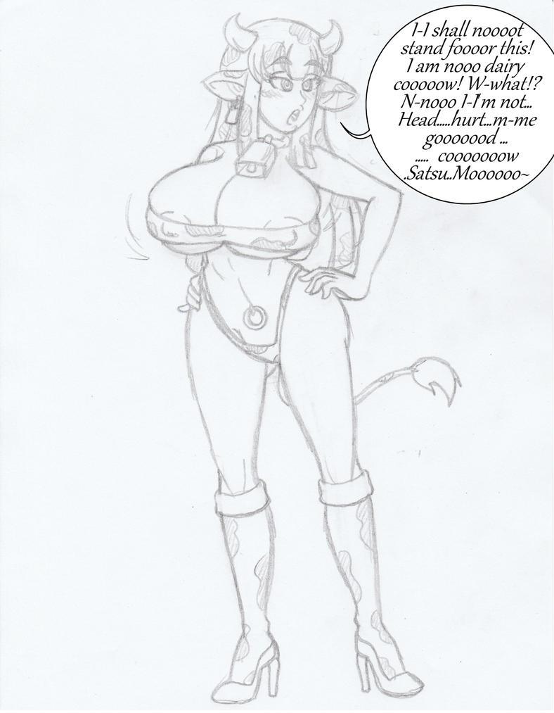 Sketch of the day ( CowGirl Satsuki) by Kobi94