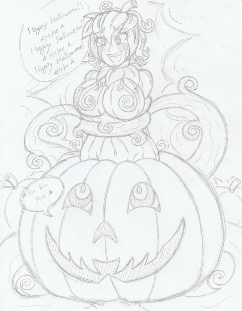 (Daily Doodle) Happy Pumpkin Girl by Kobi-Tfs