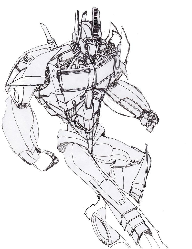 Magnífico Transformadores Optimus Prime Para Colorear Foto ...