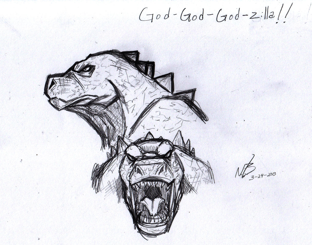 Picture a day 83: Godzilla design by ConstantM0tion