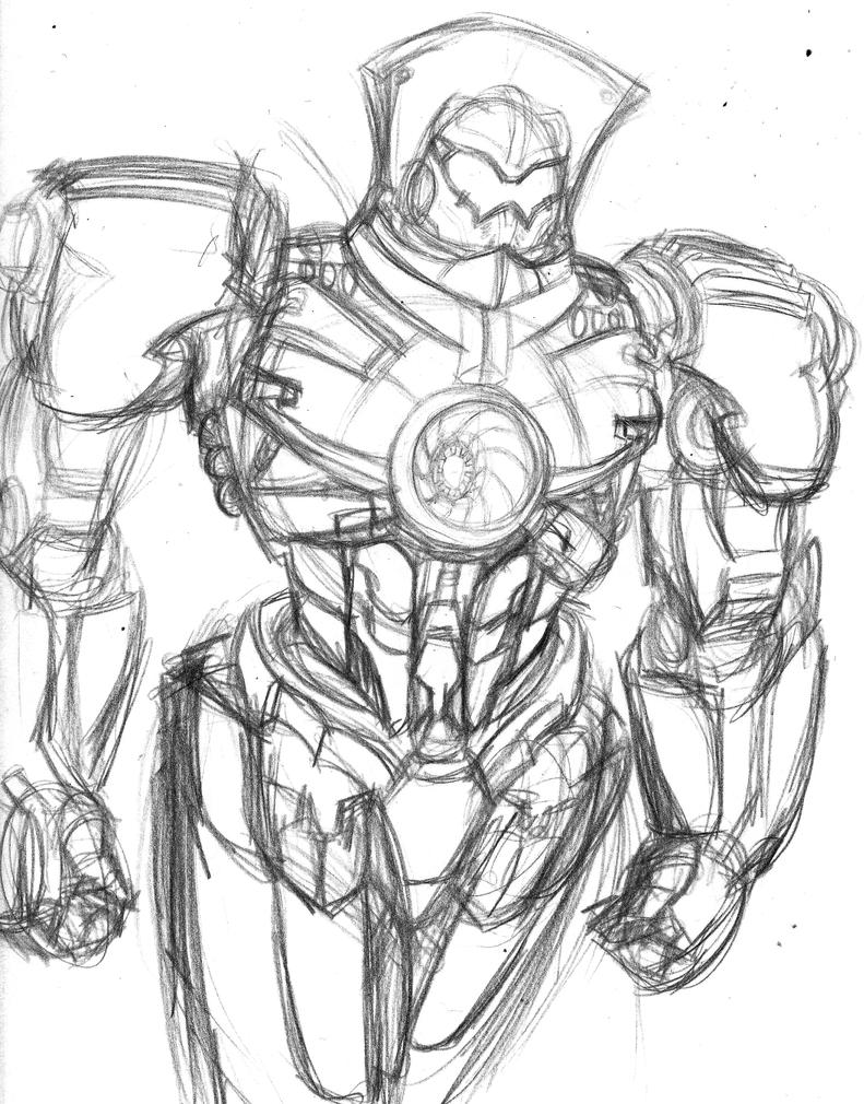 Picture a Day 231 Gypsy  Pacific Rim Gipsy Danger Drawing