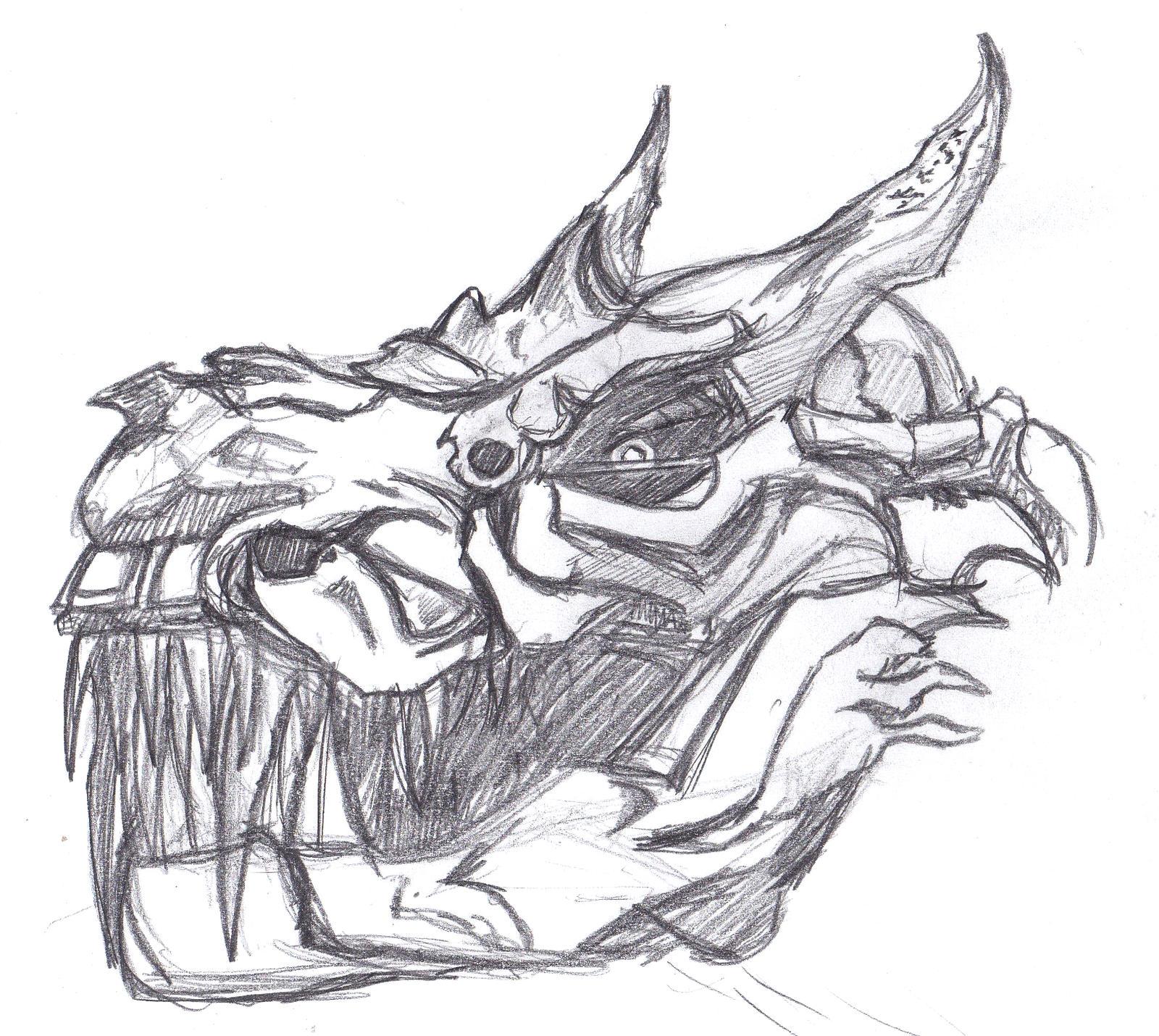Grimlock Headshot by ConstantM0tion