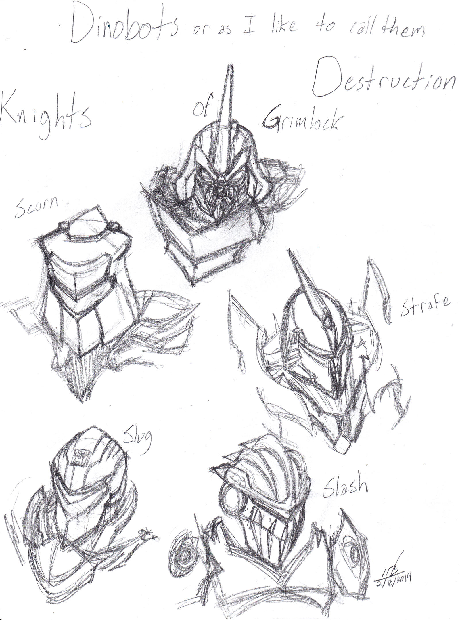 Age of Extinction Dinobot Sketches by ConstantM0tion