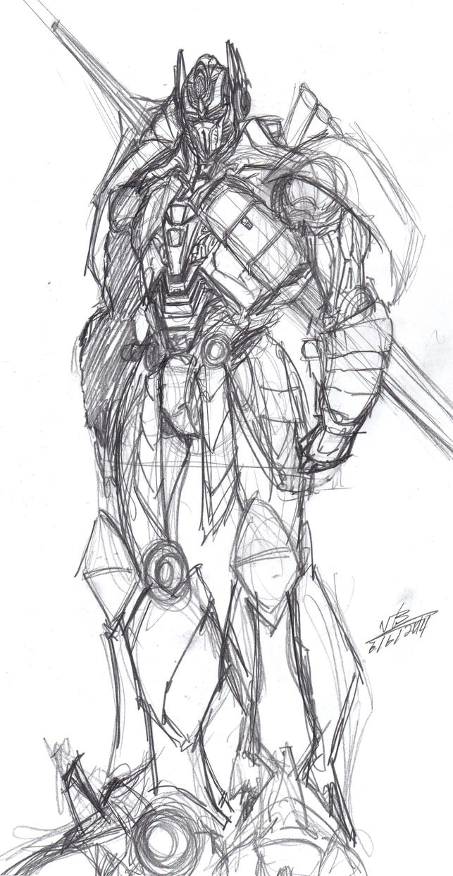 AoE Optimus Prime Sketch Warm-Up by ConstantM0tion