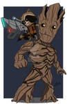 Rocket and Groot Chibi's!