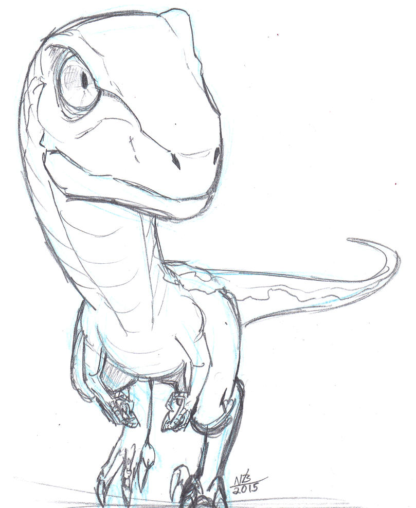 Jurassic Chibi #1: Velociraptor By ConstantScribbles On