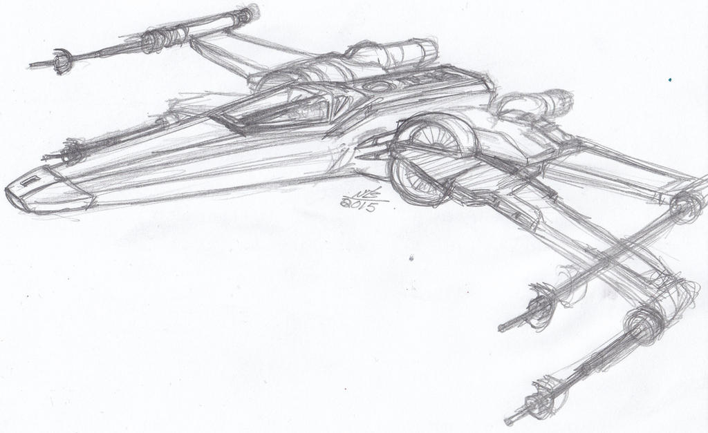 X Wing Line Drawing : Incom t wing fighter sketch by constantscribbles on