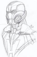 Another Ultron sketch by ConstantScribbles