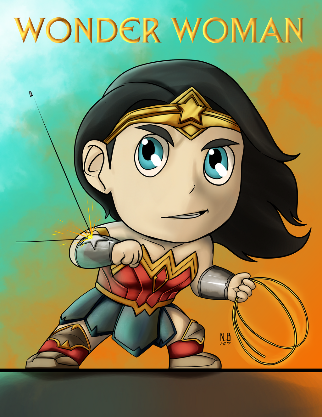 Wonder Woman Chibi by ConstantScribbles on DeviantArt