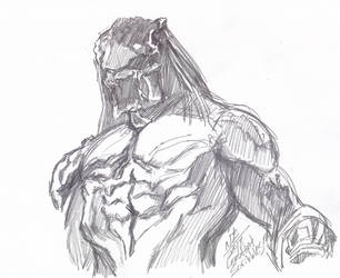 The Predator Spoilers (Kind of) - The Big Guy by ConstantScribbles
