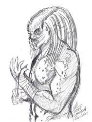 Yautja Sketch by ConstantScribbles