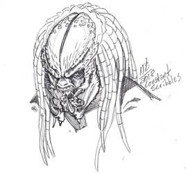 Predator 2 inspired headshot sketch by ConstantScribbles
