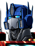 Optimus Prime Headshot colors