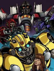 Inktober 2018 Days 28-31: Bumblebee Movie by ConstantScribbles