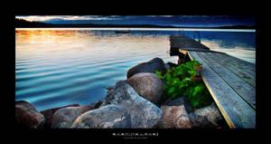 Evening lake II by Nerugla