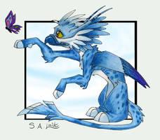 Ice Gryphon for MoriNoYosei by singham-wilk