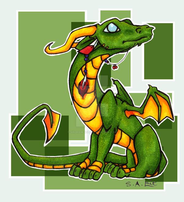 Baby Dragon by singham-wilk
