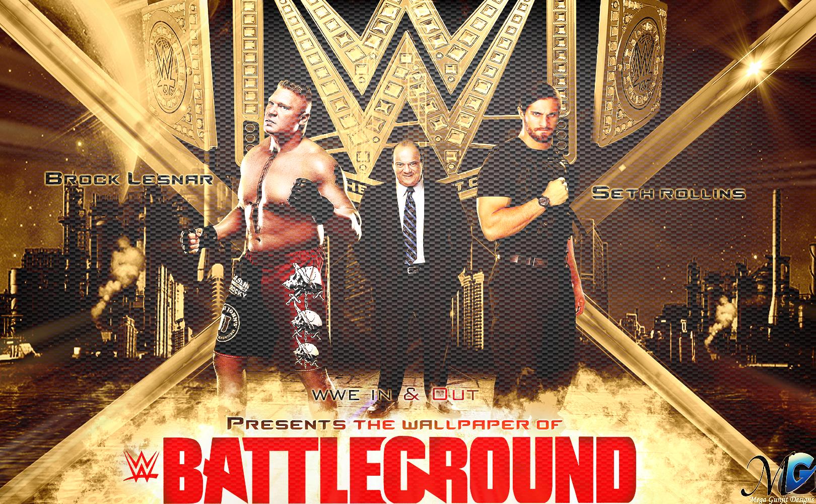 Brock Lesnar VS Seth Rollins HD Wallpaper By Megagunjit