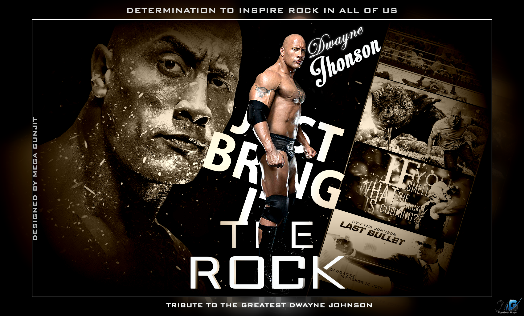 wwe hd wallpapers - the rock tribute newmegagunjit on deviantart