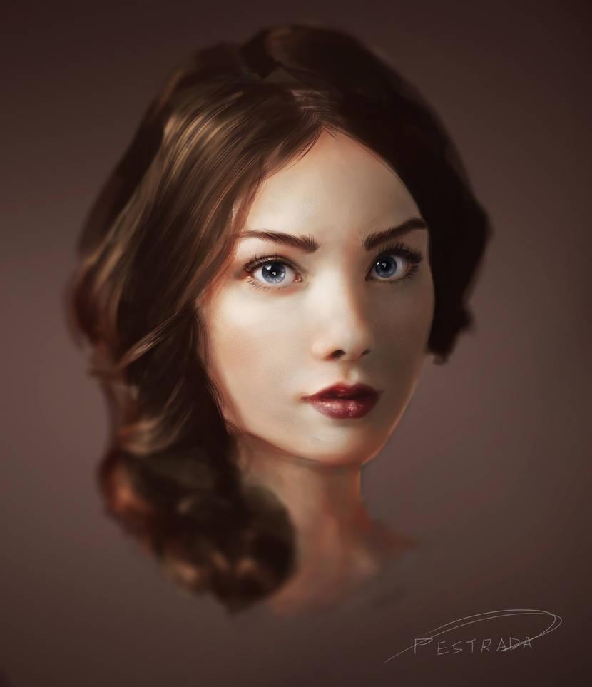 portrait likeness study by DeerHooves
