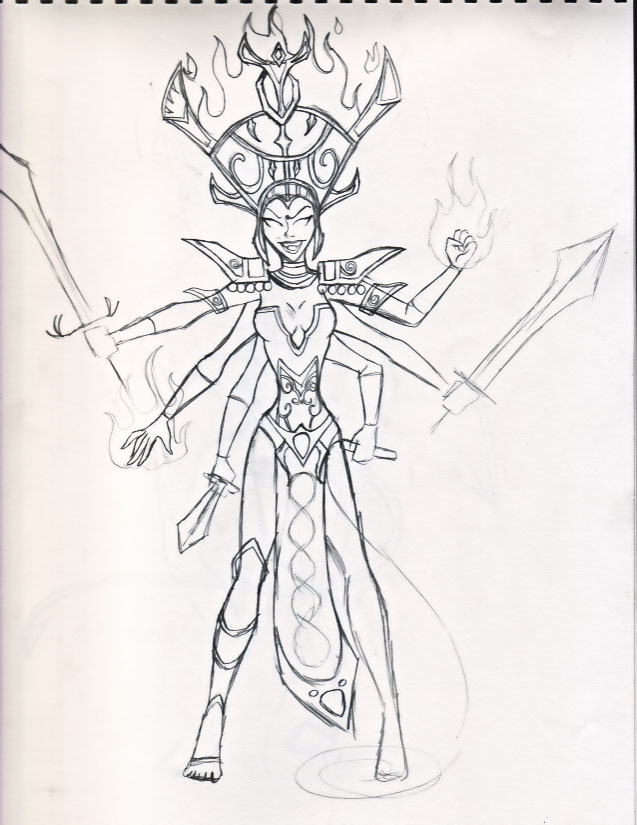 Bad Girls of Warcraft- Shivan by miladyhiakara