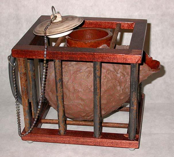 Cage Teapot by spookymonkey
